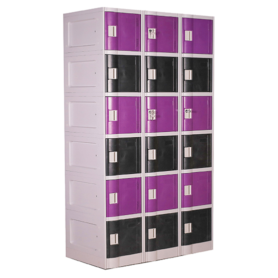 6 Compartment ABS Locker