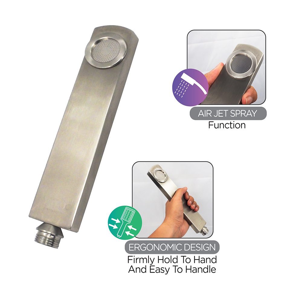 Shower Head & Hand Shower|PREMIER Hand Shower (Stainless Steel Hairline)|